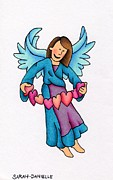 Seraphim Angel Drawings Prints - Heartstring Print by Sarah Batalka