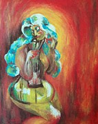 Guitar Painting Originals - Heartstrings by Emily Patton
