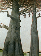 Tall Trees Paintings - Heartwood by Charlie Baird