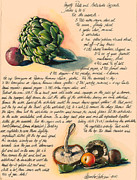 Fresh Vegetables Painting Posters - Hearty Casserole Poster by Alessandra Andrisani