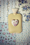 Plaid Framed Prints - Hearty Hot-water Bottle Framed Print by Joana Kruse