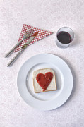 Napkin Framed Prints - Hearty Toast Framed Print by Joana Kruse