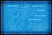 Heat Blueprint Print by Joe Myeress