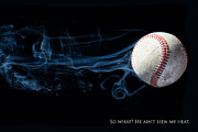 Fast Ball Photo Prints - Heat Print by Martin Cauchon