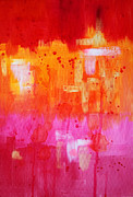 Splat Paintings - Heat by Nancy Merkle