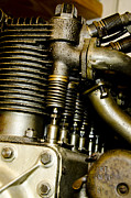 Single-engine Photos - Heath-Henderson Motorcycle Engine by Wilma  Birdwell