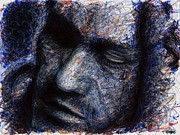 Heath Ledger - Blue Print by Rachel Scott