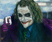Scott Parker Metal Prints - Heath Ledger Joker Metal Print by Scott Parker