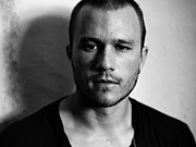 Celebrities Posters - Heath Ledger Portrait Poster by Sanely Great
