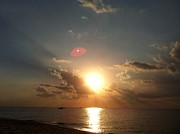 Indiana Dunes Photos - Heaven at Sunset by Anastasia Trekles