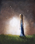 Light And Dark   Painting Prints - Heaven Heard Her Prayers Tonight by Shawna Erback Print by Shawna Erback