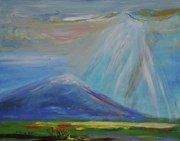 Destiny Paintings - Heaven in Oregon Mt. Hood Oregon by Patricia Kimsey Bollinger