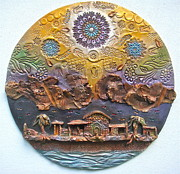 Religious Ceramics Metal Prints - Heaven is Pregnant Metal Print by Gary Wilson