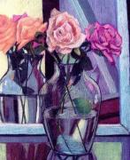 Floral Still Life Pastels Prints - Heaven Sent Print by Marita McVeigh