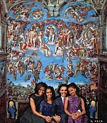 Michelle Obama Painting Prints - Heaven Sent Print by Richard Johnston