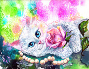 Cat Paintings - Heaven Sent by Sherry Shipley