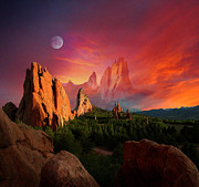 Garden Of The Gods Framed Prints - Heavenly Garden Framed Print by John Hoffman