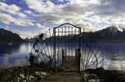 Mirrored Framed Prints - Heavenly Gate - Landscape Photos Framed Print by Laria Saunders