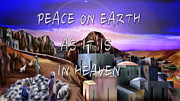 Bethlehem Painting Prints - Heavenly Peace On Earth  Print by Reggie Duffie