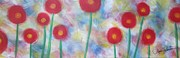 Botanicals Originals - Heavenly poppies by Molly Roberts