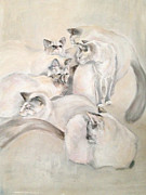 Janet Felts Art - Heavenly Puffs by Janet Felts