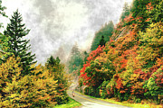 Fall Colors Autumn Colors Photo Posters - Heavenly Ride II - Blue Ridge Parkway Poster by Dan Carmichael
