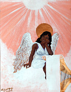 Ebony Paintings - Heavenly Soul by Edward Fuller