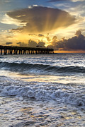 Florida Bridges Prints - Heavens Door is Open Print by Debra and Dave Vanderlaan