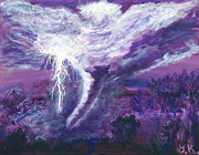 Dark Energy Painting Originals - Heavens Fury by Gloria Koch