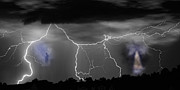 Cloud To Ground Lightning Photos - Heavens Gates Happy Easter by James Bo Insogna