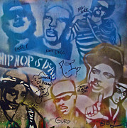 Stencil Art Paintings - Heavens Ghetto 2 by Tony B Conscious