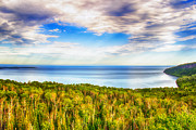 Heavens Digital Art Prints - Heavens Over Lake Superior Print by Bill Tiepelman