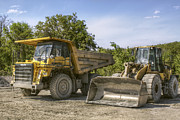 Jason Politte Prints - Heavy Equipment - Komatsu - CAT Print by Jason Politte