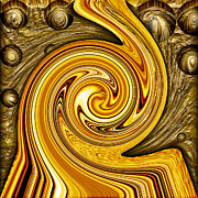 Swirly Digital Art Posters - Heavy Metal 2 Poster by Wendy J St Christopher