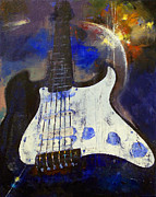 Galaxies Painting Metal Prints - Heavy Metal Metal Print by Michael Creese