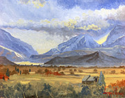 Utah Paintings - Heber Valley Sunset by Jeff Brimley