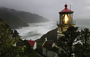 Bob Christopher Prints - Heceta Head Lighthouse Print by Bob Christopher