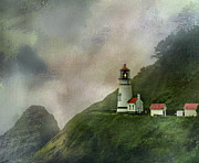 Keepers House Framed Prints - Heceta Head Lighthouse Florence Oregon Framed Print by Diane Schuster