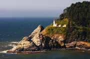 Beautiful Lighthouses Prints - Heceta Head Lighthouse Print by Jeffrey Campbell