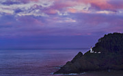 Lighthouse At Sunrise Prints - Heceta Head Lighthouse Print by Ken McDougal