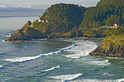 Keepers House Framed Prints - Heceta Head Framed Print by Nick  Boren