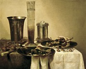 Interior Still Life Photo Metal Prints - Heda, Willem Claesz 1594-1680. The Metal Print by Everett