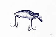 Blueprint Photo Prints - Heddon River Runt  Print by Scott Pellegrin