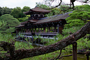 Shrine Photo Originals - Heian Shrine bridge Kyoto Japan by Dan Hartford