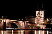 Water Pastels Prints - Heidelberg bridge Print by Francesco Emanuele Carucci