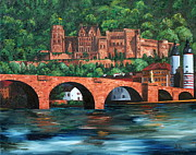 Wow Paintings - Heidelberg Castle by Cevin Cox