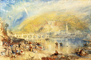 Famous Artists - Heidelberg with a Rainbow by Joseph Mallord William Turner