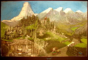 Swiss Alps Drawings - Heidi 1937 by Joseph Hawkins