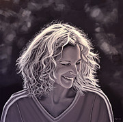 Tennis Painting Prints - Heike Henkel Print by Paul  Meijering