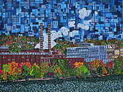 Factory Paintings - Heinz Factory - View from 16th Street Bridge by Micah Mullen